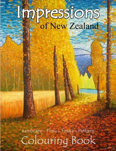 Impressions of New Zealand Colouring Book