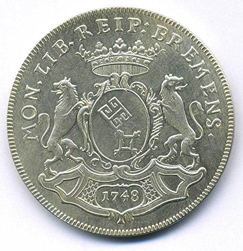 Altdeutsche Münze 1/2 Taler - 1748 Bremen - Reichstaler Replica