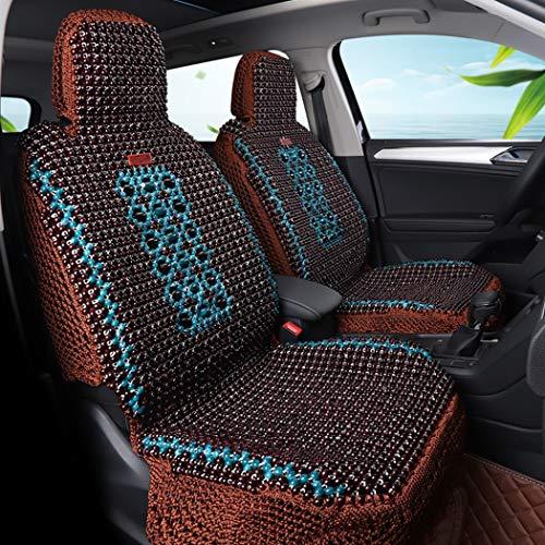 CARZJ Holzperlen-Komfort-Sitzbezug Vorder- und Rücksitz Full-Set-Kissen Comfort Cool Pad Four Seasons Universal Geeignet für die meisten Fünfsitzer,A