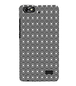 Fiobs Designer Phone Back Case Cover Huawei Honor 4C :: Huawei G Play Mini ( Black and White Pattern Design )