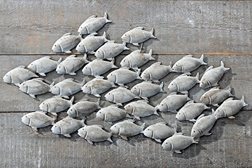 Wandbild Wandobjekt Fische aus Eisen in Mattgrau