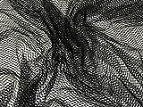 Minerva Crafts Tüll-Netzstoff, weich, Meterware, Schwarz
