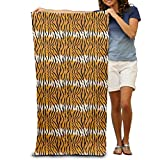 "Tigre Leopardo adultos algodón toalla de playa (31""x 51"""