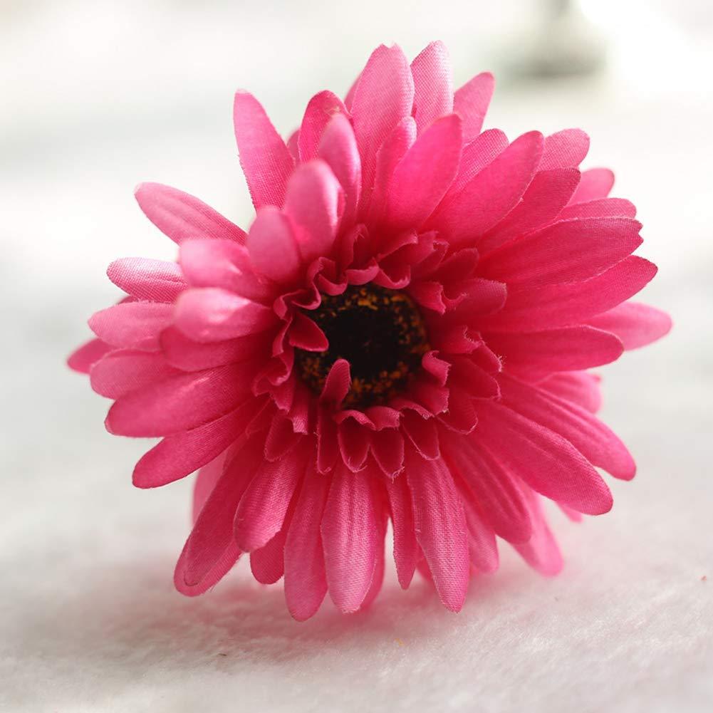 Newsland 22 Inches Artificial Margaritas para Boda Ramo Decoración – Princesa Rosa