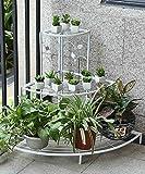 ZENGAI Europäischer Stil Eisen Kreativ Blumenständer Blumentöpfe Regal Blumenständer Zum Balkon Wohnzimmer Innenraum (Farbe : Weiß, größe : A)