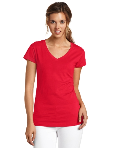 Dickies Juniors' Solid V-Neck T-Shirt - Rot - X-Groß -