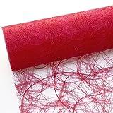 Deko AS GmbH Sizoweb Tischband rot 30 cm Rolle 25 Meter 64 009-R