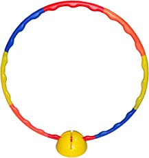 Foricx Huppa Hulla Ring/Hula Hoop Exercise Ring/Exercise Ring Collapsible Kids Huppa/Hula Ring Exercise Ring for Aerobics,Gymnastic & Weight Loss with Plastic Stand