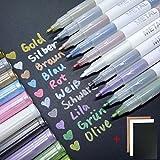 Gelstifte QMINUS Metallic Stifte, Glitzerstifte, Metallic Stifte Fotoalbum , Marker set, Stifte set...