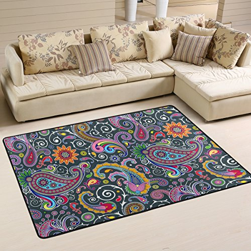 Woor Paisley Wohnzimmer Essbereich Teppiche 91,4x 61cm Bed Room Teppiche Büro Teppiche Moderner Boden Teppich Teppiche Home Decor, multi, 6 x 4 Feet