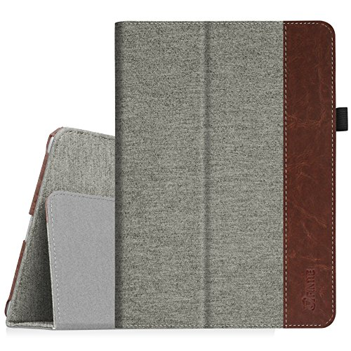 Fintie iPad 9.7 Zoll 2018 2017 / iPad Air Hülle - Folio Slim Fit Kunstleder Schutzhülle Cover Case mit Auto Schlaf/Wach Funktion für Apple iPad 9,7'' 2018/2017, iPad Air (2013 Modell), Denim grau