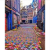 KDGJG Ámsterdam Colorido Paisaje Urbano Pintura por Números En Lienzo Decoración Decoración De Pared Pintura Digital DIY