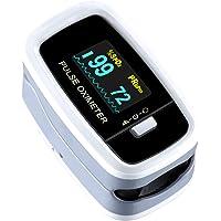Mpow Pulsossimetro, Saturimetro da dito Display OLED, 4 Girevoli Direzioni e 5 Luminosità Regolabili, Letture Immediate…