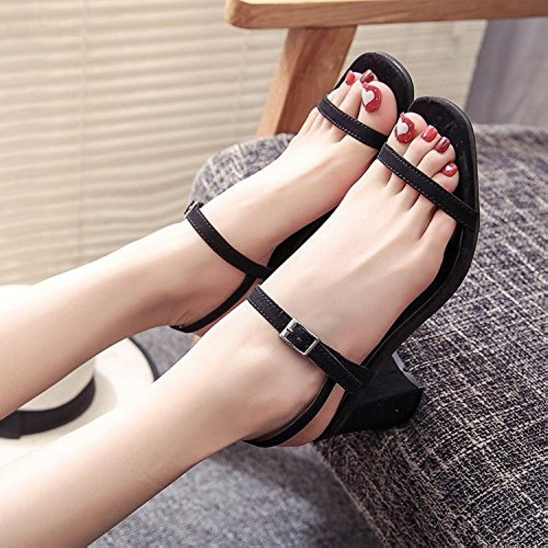 GAOLIM Mädchen Sommer Sandalen Damen-Schuhe Damen Schuhe mit der Copycat Schlitz Befestigungen Uni dew-toe fürö