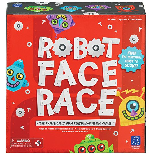 Learning Resources- Juego de Colores y atributos Robot Face Race (EI-2889)