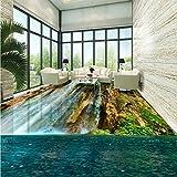 Mbwlkj 3D Stereoskopische Wasserfall Grüne Landschaft Bodenbeläge Verdickte Rutschfeste Schlafzimmer Wohnzimmer Bodenbeläge Wandgemälde-450Cmx300Cm