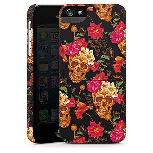 Apple iPhone X Silikon Hülle Case Schutzhülle Totenkopf Muster Blumen Premium Case StandUp