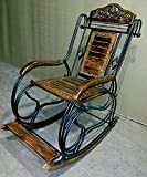#8: Hindoro Wooden & Iron Rocking Chair (Multi-Color)