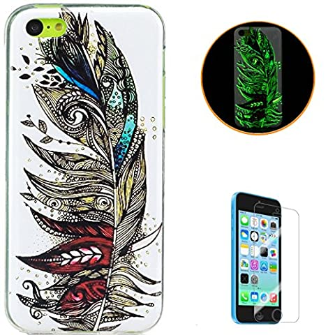KaseHom Coque iPhone 5C Couvrir Effet lumineux Très mince TPU