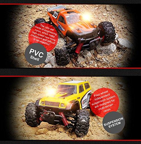 RC Auto kaufen Truggy Bild 5: SUBOTECH BG1510 LYL Ferngesteuerte Autos f r Draussen, RC Auto Elektrisch 4WD 1 24 RTR 40km h, 2 4ghz, Orange*