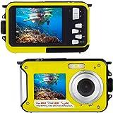 Unterwasserkamera Kamera Full HD 1080P für Das Schnorcheln 24.0 MP Wasserdicht Punkt und Schießen Digitalkamera Doppelbildschirm Tätigkeit Kamera