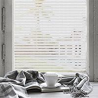 FANCY-FIX Pegatina de Vinilo Electricidad Estática para ventana o cristal Ventana Película Adhesiva Proteger Privacidad Opaco Ventana decorativa Forma Raya Color traslúcido 45*200cm