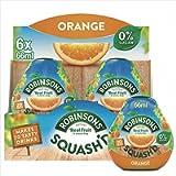 Robinsons SQUASH'D, No Added Sugar, Real Fruit, Orange, Makes 20 Drinks Per Pack, 6 Packs