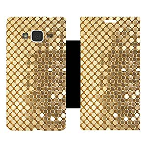 Skintice Designer Flip Cover with Vinyl wrap-around for Samsung Galaxy J3 (2016), Design - Golden Sequins