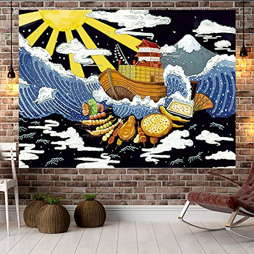 Peces mar Estilo japonés Ukiyo-e Pintado decoración
