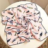 Ding Decoration Foulard Di Seta Ms. Wild Scialle In Seta Dual-Use Primavera E Autunno Telo Da Spiaggia(70 * 70 Cm)