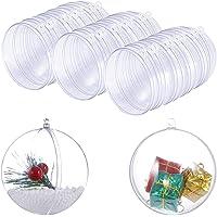 SIMUER 15 Set Ensembles de Moule de Bombe de Bain Décorations de Noël en Plastique Transparentes pour Décorations de…