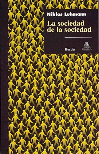 Sociedad De La Sociedad La por NIKLAS LUHMANN