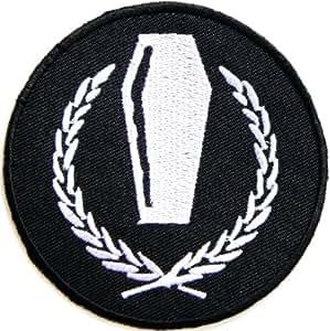 Casket Hardcore Heavy Metal Rockabilly Rock Punk Biker jacket T-shirt Ecusson brode Patch Iron on Embroidered Badge