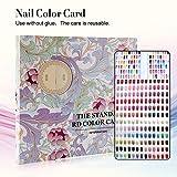 120 Farben Nailart Display Farbkarte Buch, Salon Gel Farben Anzeigen Nagellack Muster Designs Nagelspitzen Speicher Werkzeuge (Musterabdeckung)