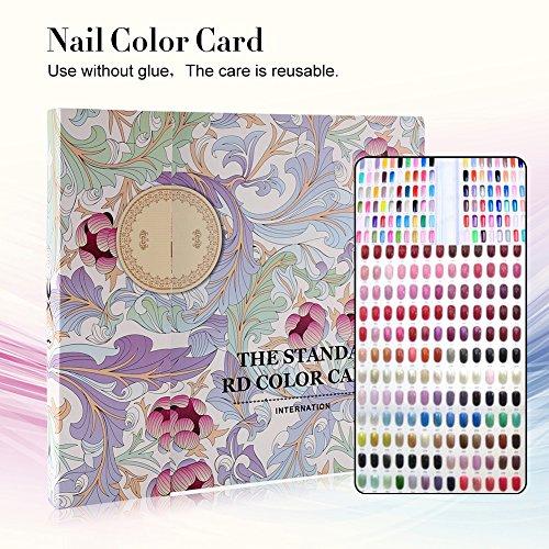 120 Couleurs Nail Art Affichage Carte d'Ongle Présentoir de Vernis à Ongles de Salon de Manucure Outil de Stockage (#1)