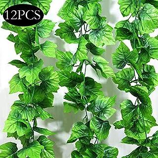 SPECOOL Blätter Girlande künstlichen Pflanzen, 10 Packungen Zum Aufhängen Pflanzen Fake Vines Seide Ivy hinterlässt Greenery Girlande