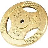 GORILLA SPORTS Hantelscheiben Einzeln/Set Gusseisen Gripper - 0,5-20 kg Gewichte mit 30/31 mm...