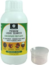 OrganicDews Liquid Seaweed Extract For Plants 250 ml With Measuring Cup 25 ml