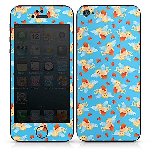 Apple iPhone SE Case Skin Sticker aus Vinyl-Folie Aufkleber Engel Herzchen Liebe DesignSkins® glänzend