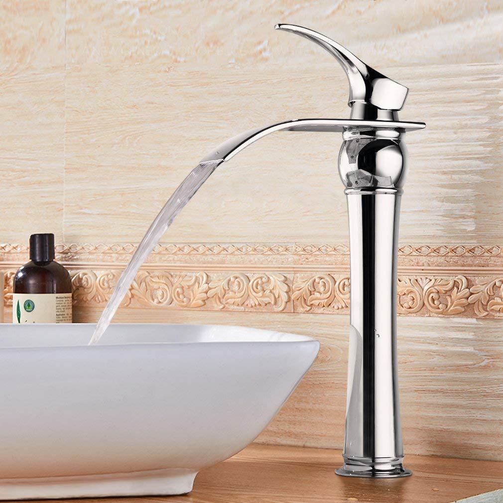 bonade mitigeur lavabo cascade robinet de vasque led pour salle de bain inspid co. Black Bedroom Furniture Sets. Home Design Ideas