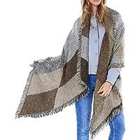 JFAN Sciarpa Donna Foulard Plaid Stola Donna Tartan Grande Scialle Abbigliamento Invernali per Moda