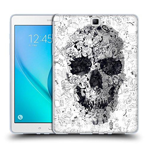Ufficiale Ali Gulec Doodle Teschio Il Messaggio Cover Morbida In Gel Per Samsung Galaxy Tab A 9.7 - Doodle Ali