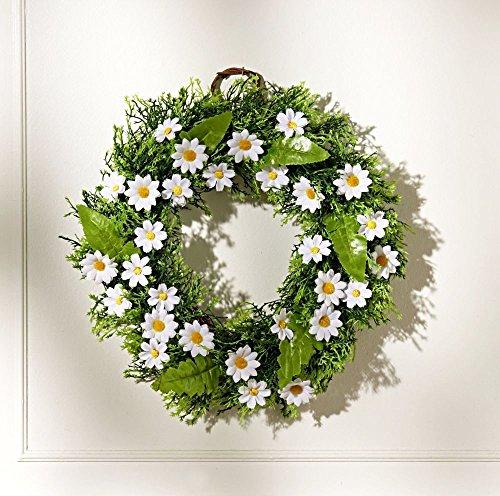 Deko Kranz Gänseblumen Türkranz Blumenkranz Blütenkranz Wandkranz Wandschmuck