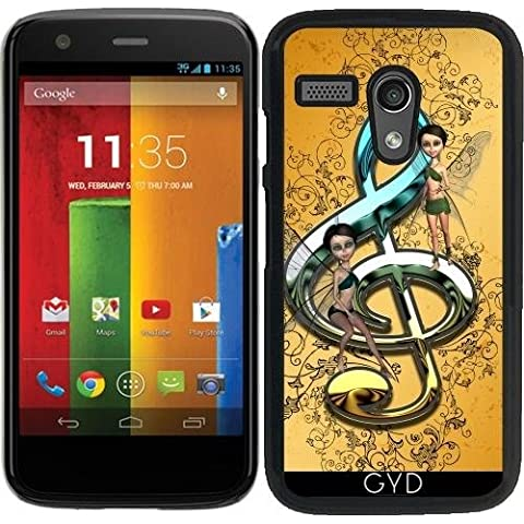Custodia per Motorola Moto G (Generation 1) - Bello, Clef Decorativo by nicky2342