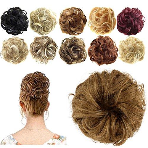 feshfen Haargummi/Haarteil für Haarknoten/Pferdeschwanz Kordelzug Haar Verlängerung -
