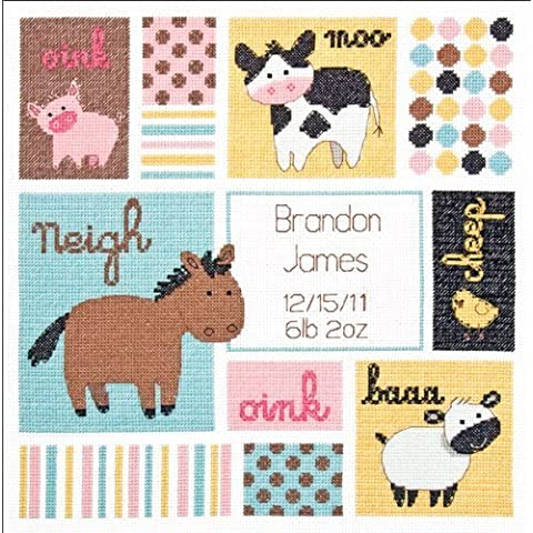 Dimensions Counted Cross Stitch Kit, Barn Babies Birth Record by