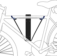 Relaxdays Fahrradhalterung, Für 2 Fahrräder, Fahrradhalter zur Wandmontage, Max. 50 kg, HBT 43,5 x 34 x 67 cm, schwarz / blau