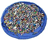 Agooding Children's 60 Inches Diameter Play Floor Mat Kids Toy Storage Bag Organizer For Lego Building Block Toys, Blue by Agooding