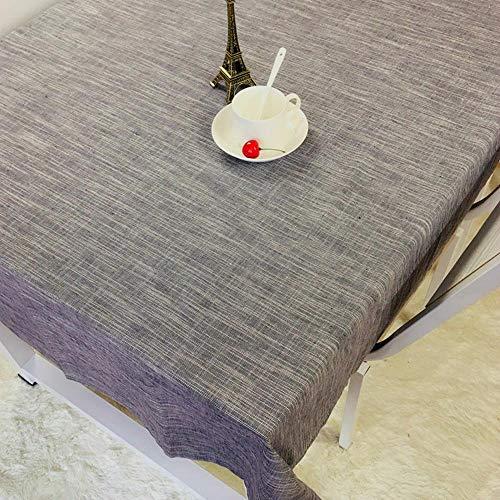 ChenHui Pure Color Livre Nappe imperméable à l'Eau Lin Tissu Tissu Toile de Coton Lin Table carrée rectangulaire Nappe