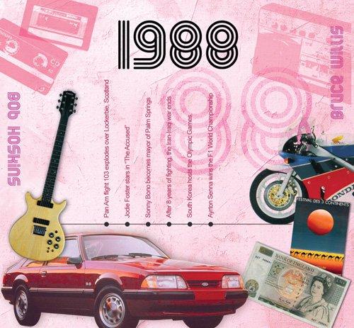 1988 Geburtstag Geschenke – 1988 Chart Hits CD und 1988 Geburtstagskarte